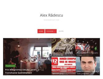 Main page screenshot of alexradescu.ro