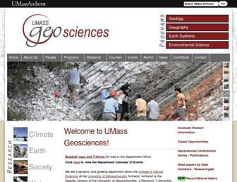 geo.umass.edu screenshot