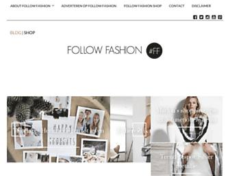 Main page screenshot of followfashion.nl