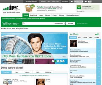 Main page screenshot of jpc.de
