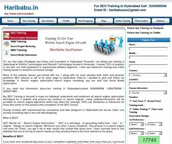 haribabu.in screenshot