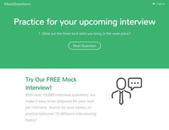 mockquestions.com screenshot