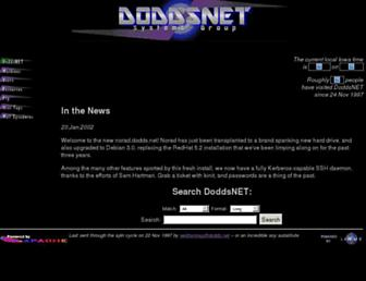 Main page screenshot of web.dodds.net