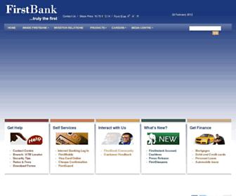 Thumbshot of Firstbanknigeria.com