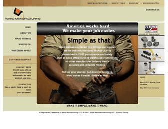 wardmfg.com screenshot