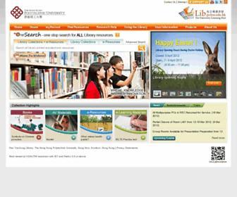 Main page screenshot of lib.polyu.edu.hk