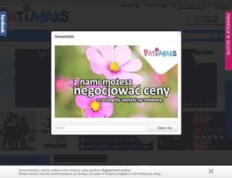 Main page screenshot of patiimaks.pl