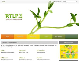 Main page screenshot of rtlp.org