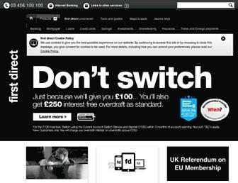www1.firstdirect.com screenshot