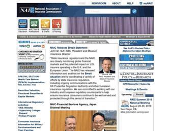 naic.org screenshot