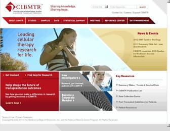 cibmtr.org screenshot