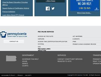 education.pa.gov screenshot