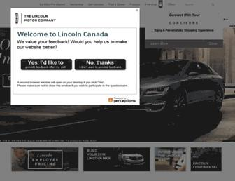 lincolncanada.com screenshot