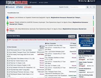 forumsimulator.com screenshot