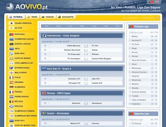 aovivo.pt screenshot