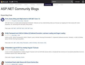 weblogs.asp.net screenshot