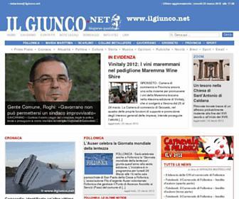 Main page screenshot of ilgiunco.net
