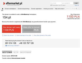 Main page screenshot of 154.pl