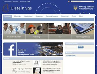Main page screenshot of ulstein.vgs.no