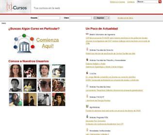 u-cursos.cl screenshot
