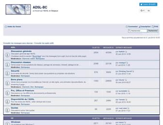 Main page screenshot of forum.adsl-bc.org