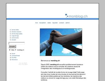Main page screenshot of monblog.ch