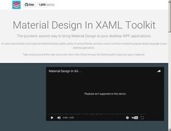 materialdesigninxaml.net screenshot