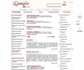 ejemplode.com screenshot