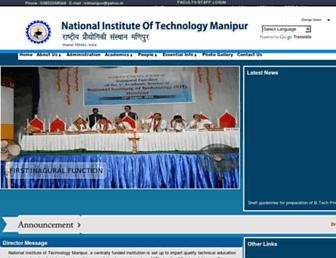 nitmanipur.ac.in screenshot