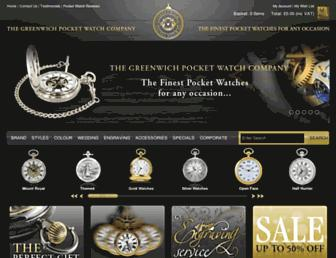 greenwichpocketwatch.co.uk screenshot