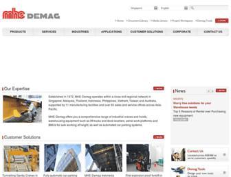 mhe-demag.com screenshot