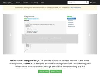 sparkioc.com screenshot