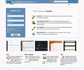 Screenshot for forumcommunity.net
