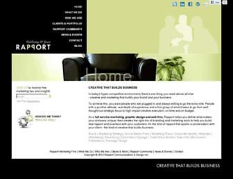Main page screenshot of rapportinc.ca