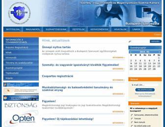 Main page screenshot of szvmszkbp.hu