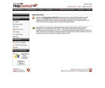 helpcentral.componentone.com screenshot