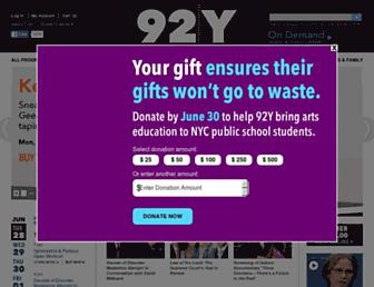 92y.org screenshot