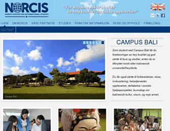Main page screenshot of norcis.no