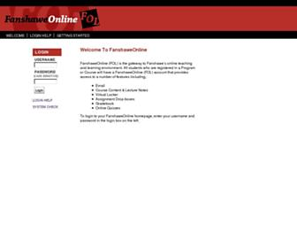 Main page screenshot of fanshaweonline.ca