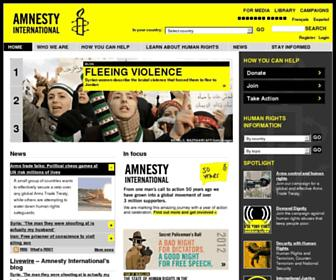 amnesty.org screenshot