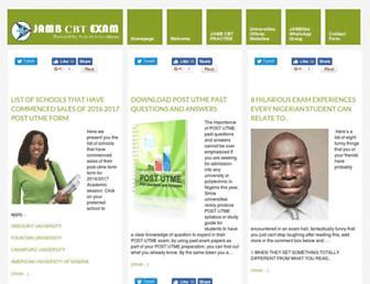 jambcbtexam.com screenshot