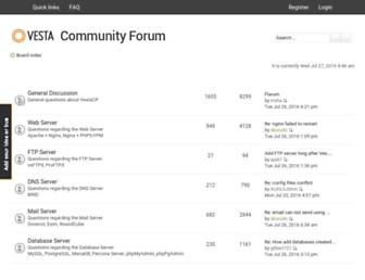forum.vestacp.com screenshot