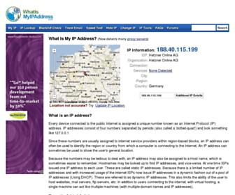 Thumbshot of Whatismyipaddress.com