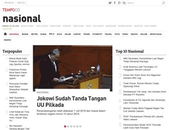 nasional.tempo.co screenshot