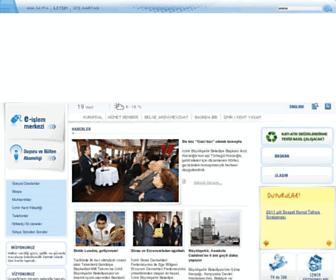 Main page screenshot of izmir.bel.tr