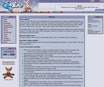 Main page screenshot of emule-project.net