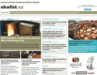 Main page screenshot of ekolist.cz