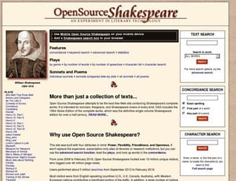 Thumbshot of Opensourceshakespeare.org