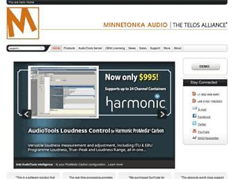minnetonkaaudio.com screenshot