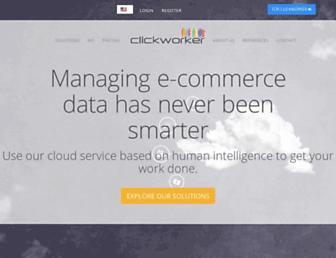 clickworker.com screenshot
